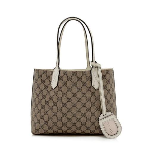 Gucci GG Supreme Leather Small Reversible Tote