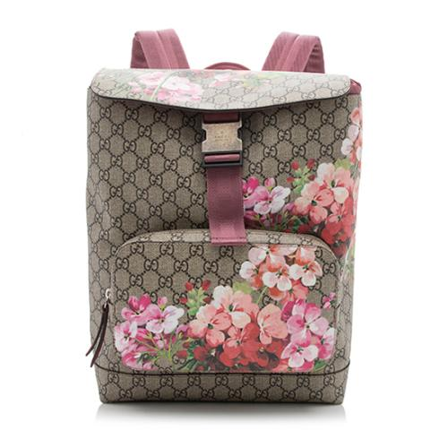 Gucci GG Supreme Medium Blooms Backpack