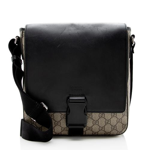 Gucci GG Supreme Flap Messenger Bag