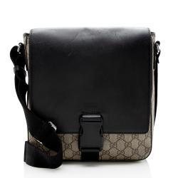 Gucci GG Supreme Flap Messenger Bag
