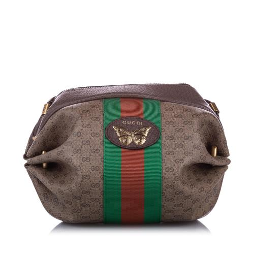 Gucci GG Supreme Mini Web Butterfly Crossbody Bag