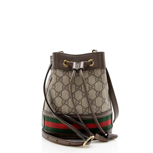 Gucci GG Supreme Ophidia Mini Bucket Bag