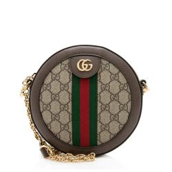 Gucci GG Supreme Ophidia Round Mini Shoulder Bag