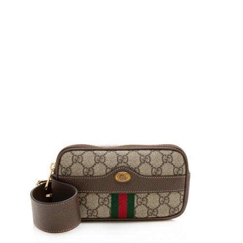 Gucci GG Supreme Ophidia Phone Case Belt Bag - Size 30 / 75