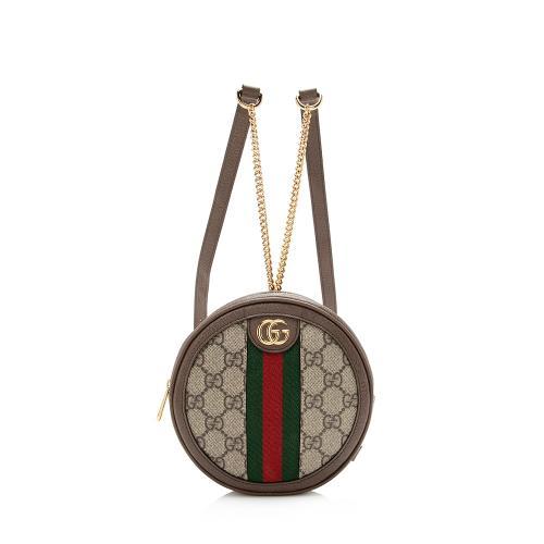 Gucci GG Supreme Ophidia Round Mini Backpack