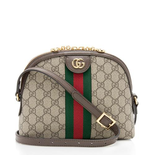Gucci GG Supreme Ophidia Dome Small Shoulder Bag