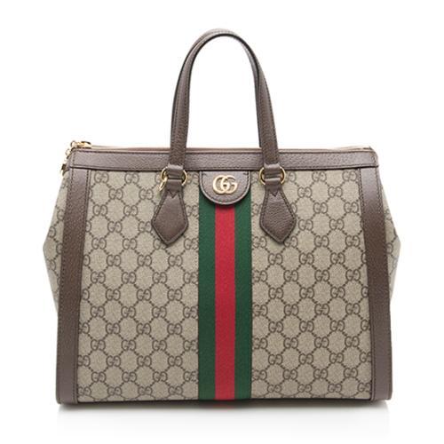 Gucci GG Supreme Ophidia Top Handle Medium Tote