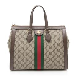 Gucci GG Supreme Ophidia Top Handle Medium Tote