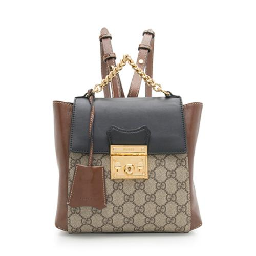 Gucci-GG-Supreme-Padlock-Backpack 99764 front large 0.jpg 810f5bb154dab