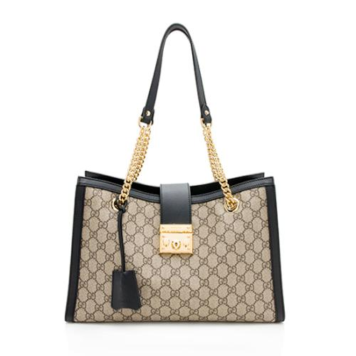 Gucci GG Supreme Padlock Medium Shoulder Bag