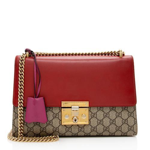 Gucci GG Supreme Padlock Medium Shoulder Bag