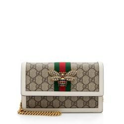 Gucci GG Supreme Queen Margaret Wallet on Chain