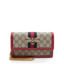 Gucci GG Supreme Queen Margaret Wallet on Chain