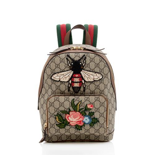 Gucci GG Supreme Souvenir Garden Bee Flower Backpack
