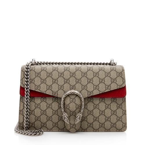 Gucci GG Supreme Suede Small Dionysus Shoulder Bag