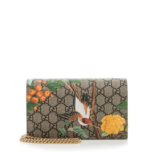 Gucci GG Supreme Tian Wallet On Chain Bag