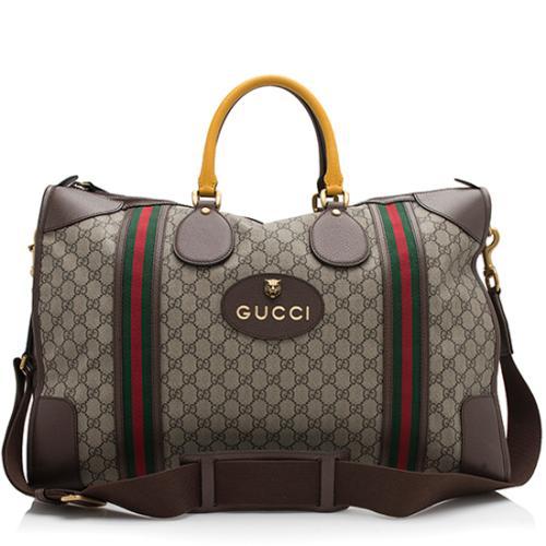 Gucci GG Supreme Vintage Neo Web Large Duffle Bag