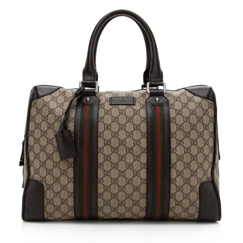 Gucci GG Supreme Web Briefcase Tote