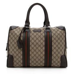 Gucci GG Supreme Web Briefcase Tote