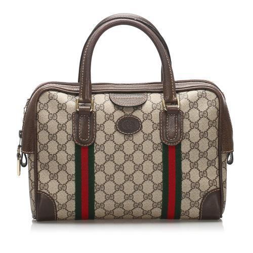 Gucci GG Supreme Web Handbag