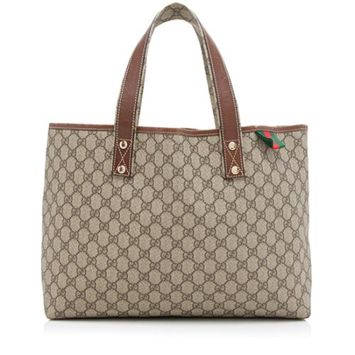 Gucci GG Supreme Web Loop E/W Shopping Tote
