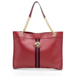 Gucci Glazed Leather Rajah Large Tote
