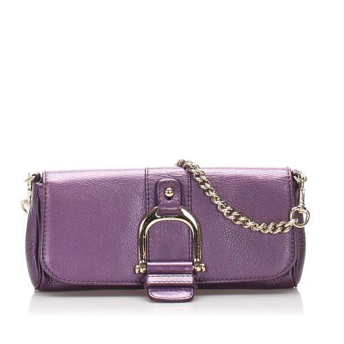 Gucci Metallic Leather Greenwich Shoulder Bag
