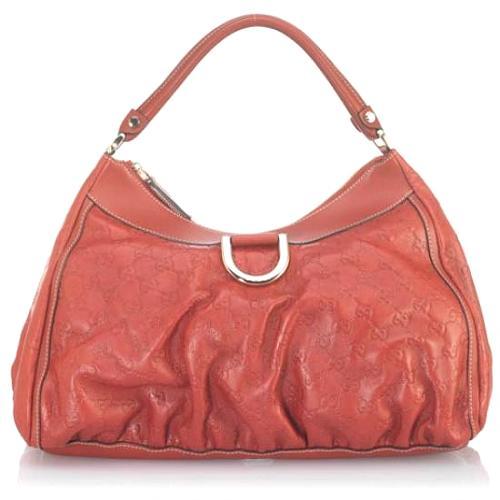 Gucci Guccisma Leather D Gold Hobo Handbag