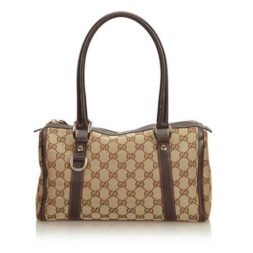 Gucci GG Canvas Abbey Small Boston Bag