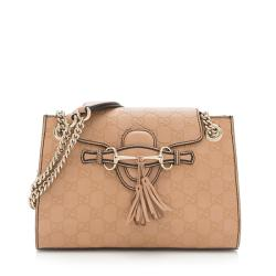 Gucci Guccissima Leather Emily Small Shoulder Bag