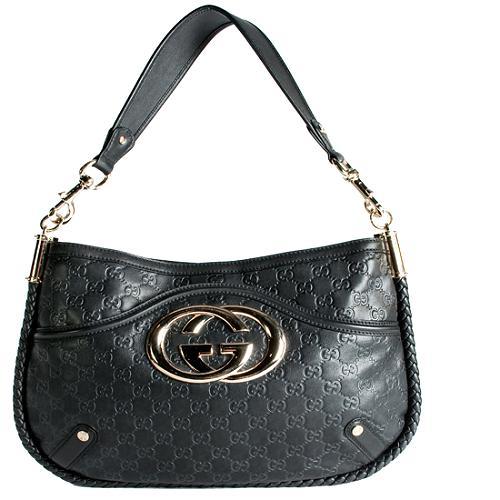 Gucci Guccissima Hobo Handbag