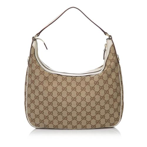 Gucci GG Canvas Charmy Hobo
