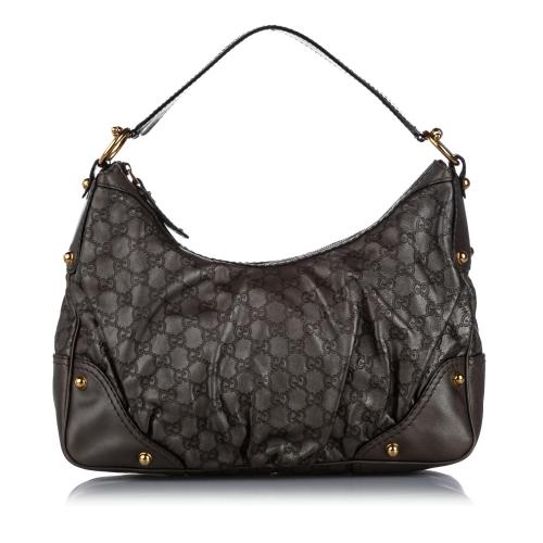 Gucci Guccissima Jockey Leather Shoulder Bag