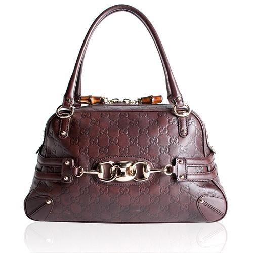 Gucci Guccissima Large Wave Boston Handbag