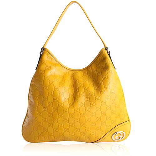 Gucci Guccissima Leather Britt Medium Hobo Handbag