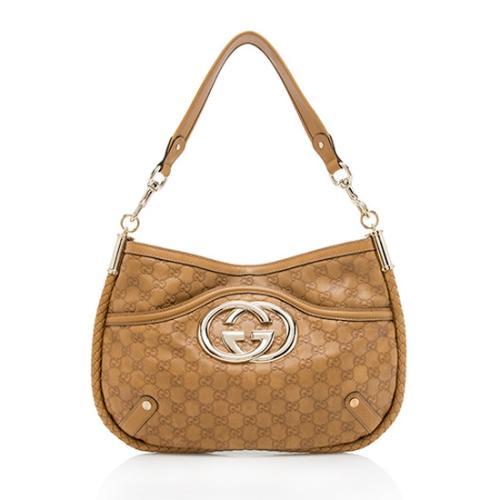 Gucci Guccissima Leather Britt Shoulder Bag