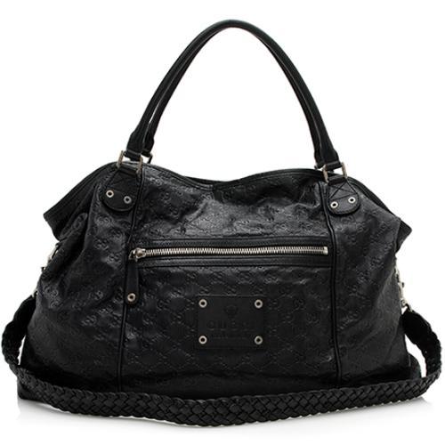 Gucci Guccissima Leather Convertible Tote