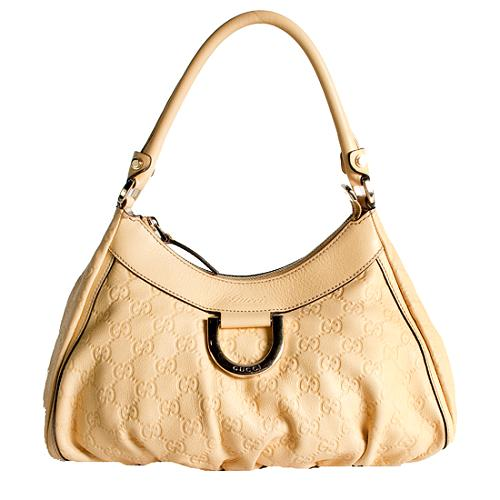 Gucci Guccissima Leather D Gold Small Shoulder Handbag