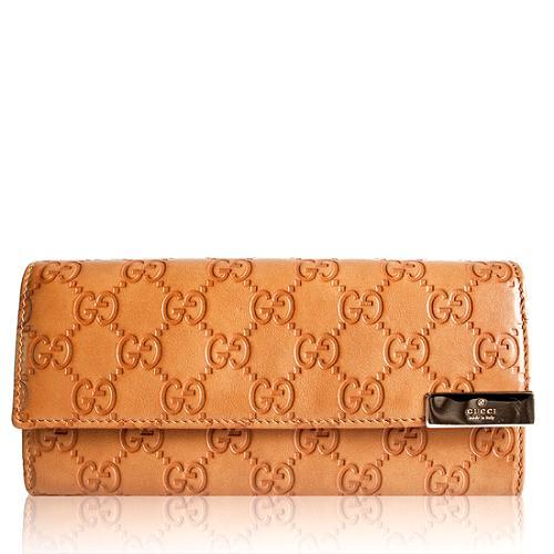 Gucci Guccissima Leather Dice Continental Wallet