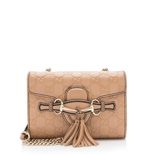 Gucci Guccissima Leather Emily Mini Shoulder Bag