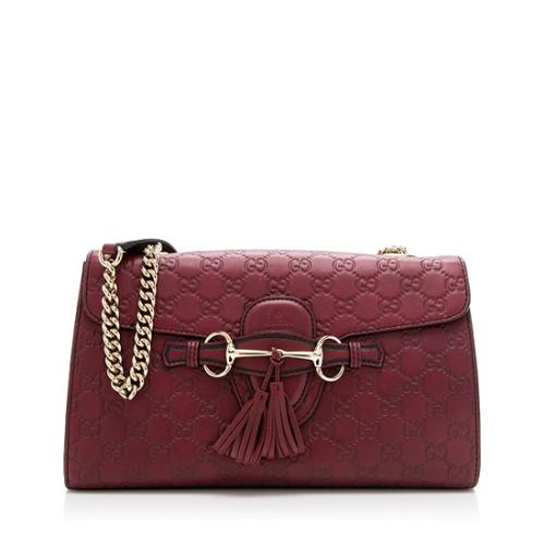 Gucci Guccissima Leather Emily Shoulder Bag
