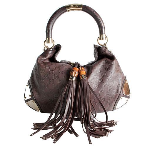 Gucci Guccissima Leather Indy Top Handle Handbag