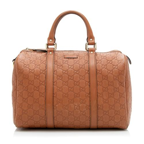Gucci Guccissima Leather Joy Boston Satchel - FINAL SALE