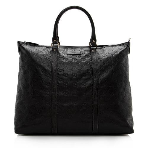 Gucci Guccissima Leather Joy Large Zip Tote