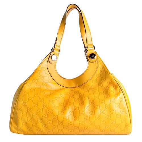 Gucci Guccissima Leather Large Shoulder Handbag
