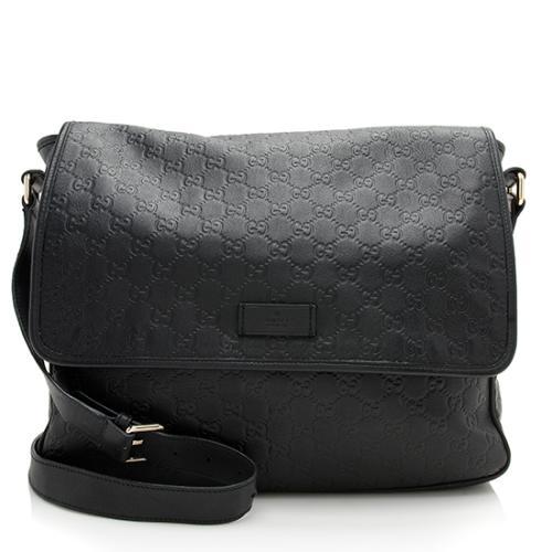 Gucci Guccissima Leather Medium Messenger Bag
