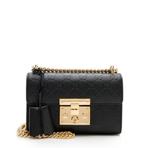 Gucci Guccissima Leather Padlock Small Shoulder Bag