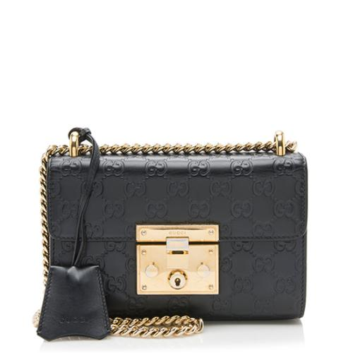 Gucci Guccissima Leather Padlock Small Shoulder Bag