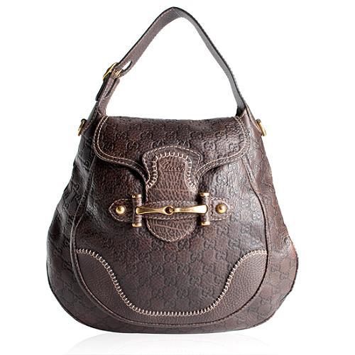 Gucci Guccissima Leather Pelham Large Shoulder Handbag