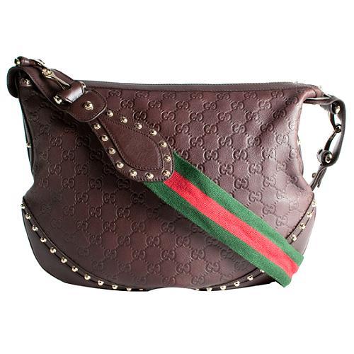 Gucci Guccissima Leather Pelham Medium Shoulder Handbag